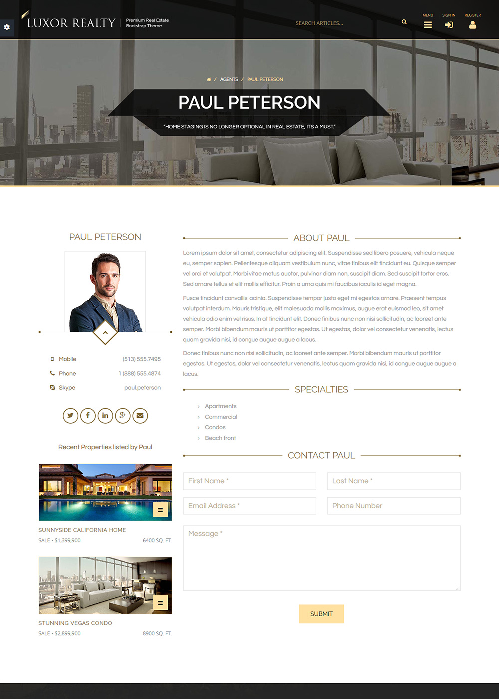 Web Site Template 33