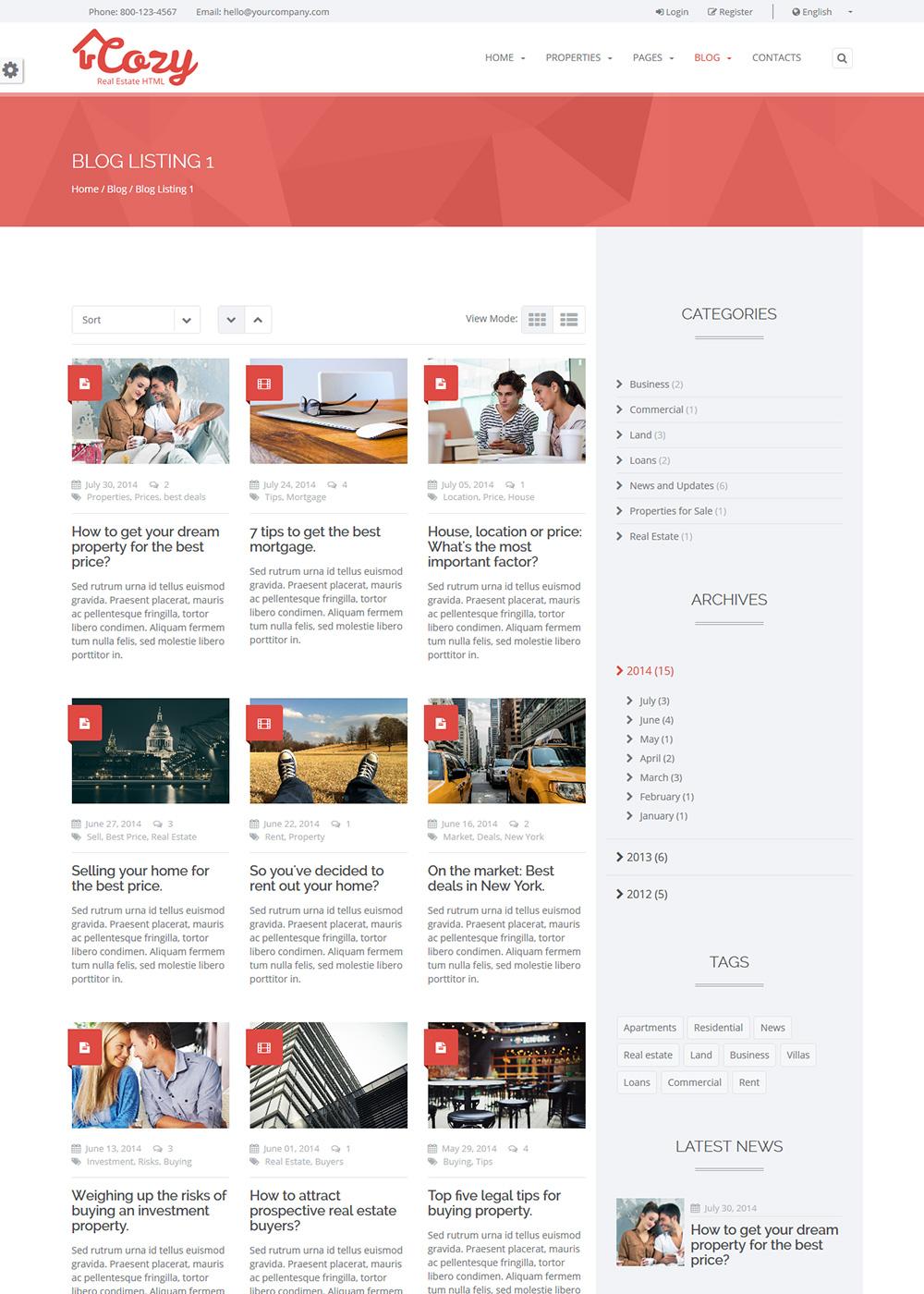 Web Site Template 40