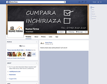 Social media page design template 6