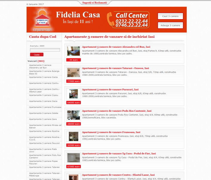 Website de nisa - apartamente 3 camere de vanzare si de inchiriat Iasi