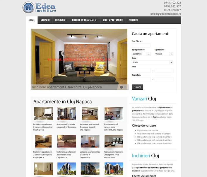 Website de nisa - vanzari si inchirieri apartamente Cluj Napoca