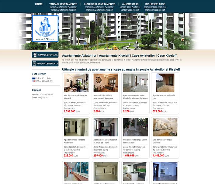 Website de nisa - apartamente si vile zona Aviatorilor Bucuresti