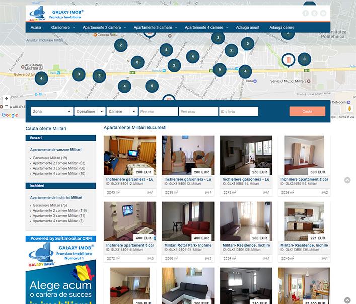 Website de nisa - apartamente zona Militari Bucuresti
