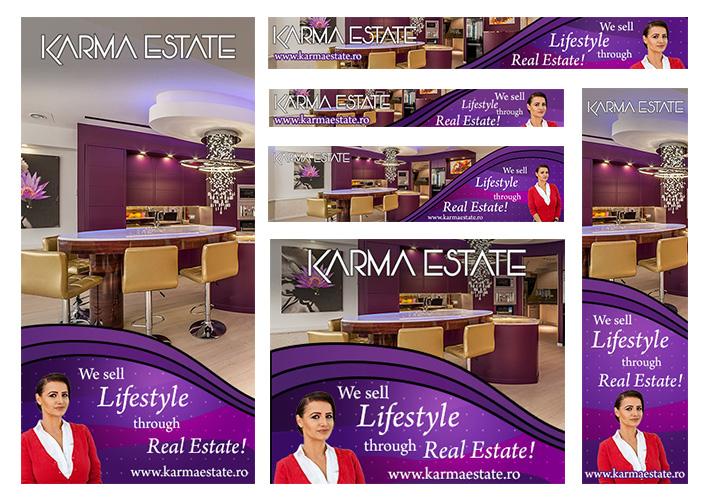 Design banner agentie imobiliara - Karma Estate - Bucuresti