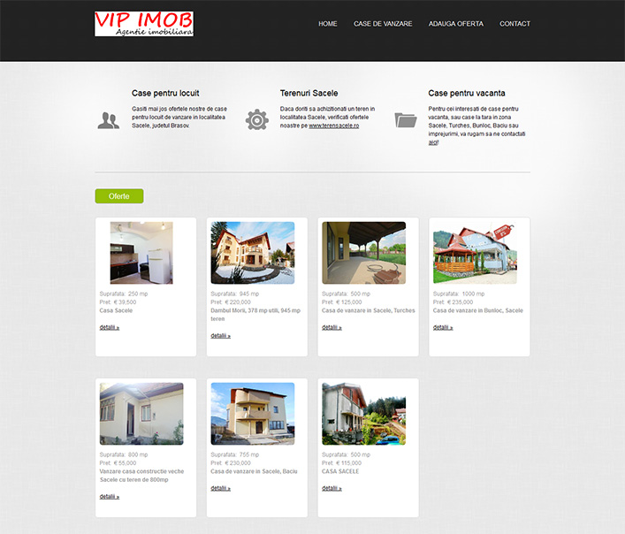 Website de nisa - case de vanzare in localitatea Sacele Brasov