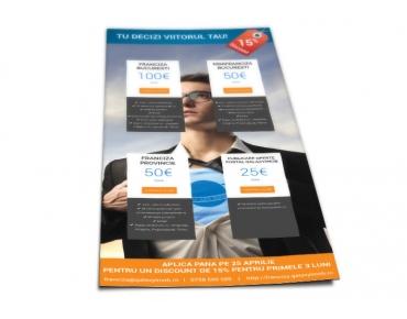 Design flyer franciza imobiliara - Galaxy Imob - Bucuresti