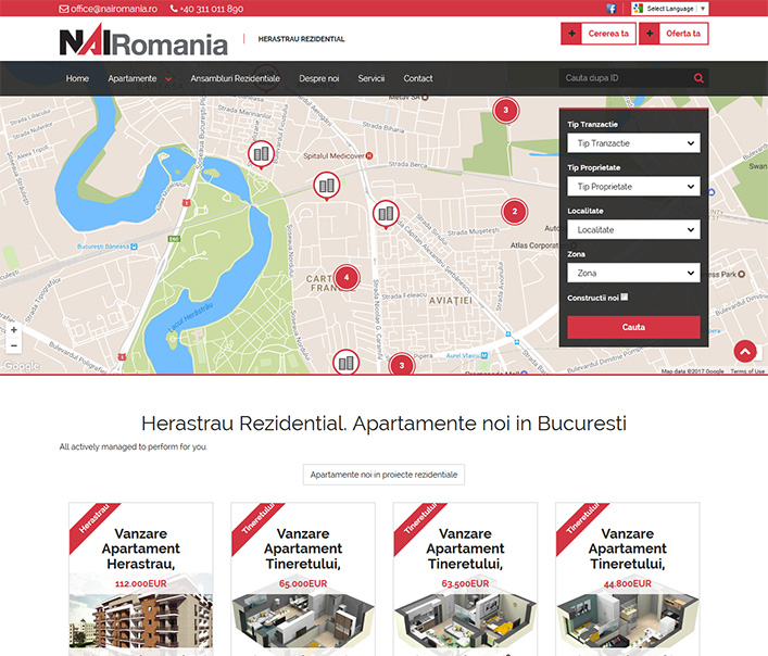 Website de nisa - apartamente noi in zona Herastrau Bucuresti