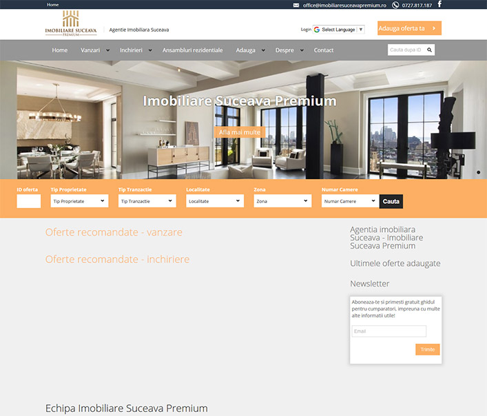 Imobiliare Suceava Premium - agentie imobiliara Suceava