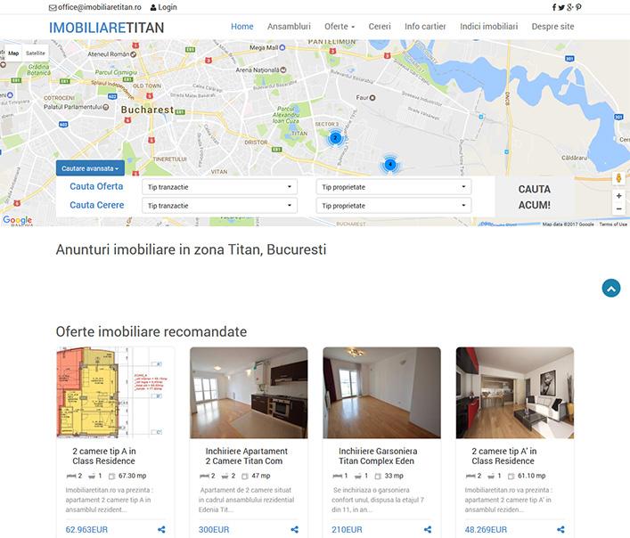 Website de nisa - imobiliare zona Titan - Bucuresti