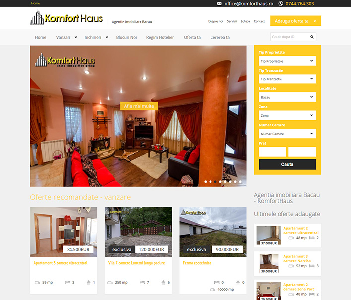 Komfort Haus - agentie imobiliara Bacau