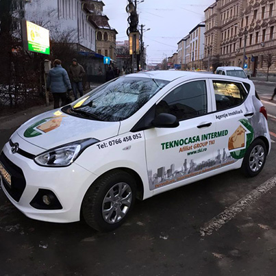 Design colantare masina agentie imobiliara - Teknocasa - Sibiu