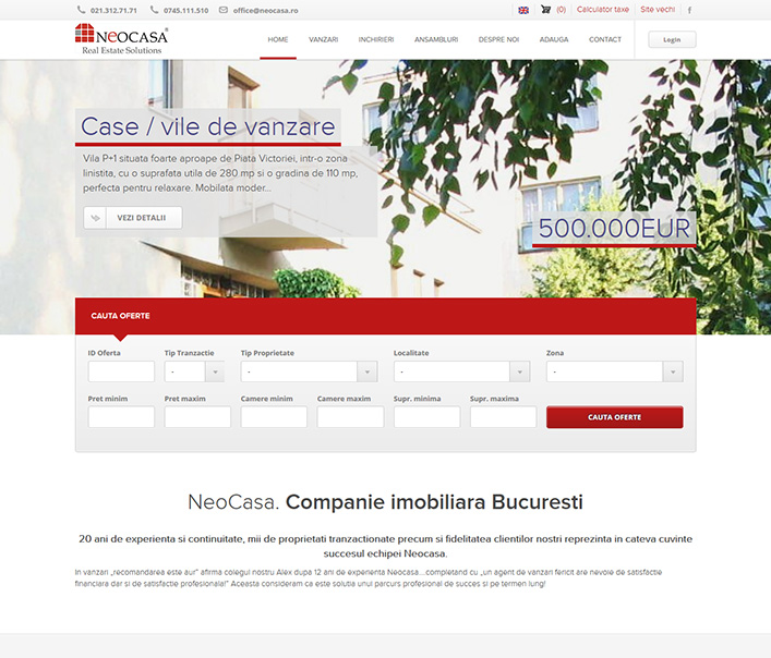 Neocasa - agentie imobiliara Bucuresti
