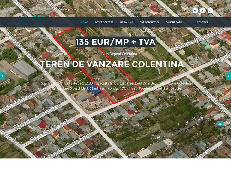 Website de nisa - terenuri de vanzare zona Colentina Bucuresti