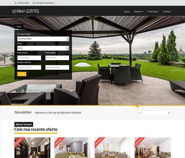 Website de nisa - oferte imobiliare zona Herastrau Bucuresti