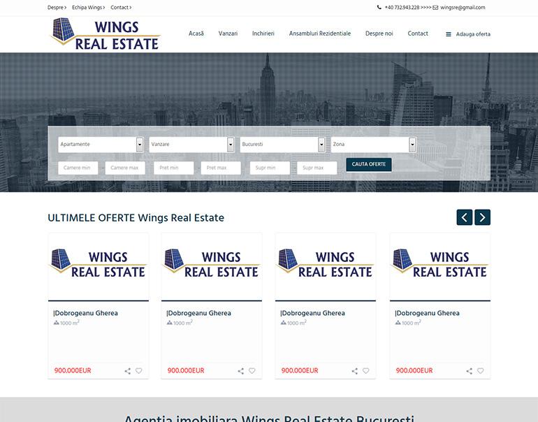 Wings Real Estate - agentie imobiliara Bucuresti
